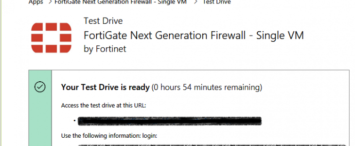 Create NGFW Fortigate (Single VM)